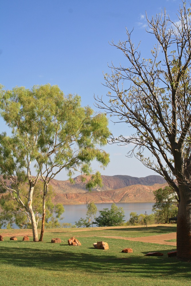 View from the caravan park at Lake Argyle