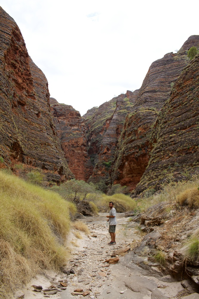 Walking into Whipsnake Gorge