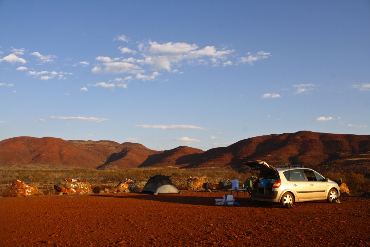 Camping at RIP Lookout near Tom Price