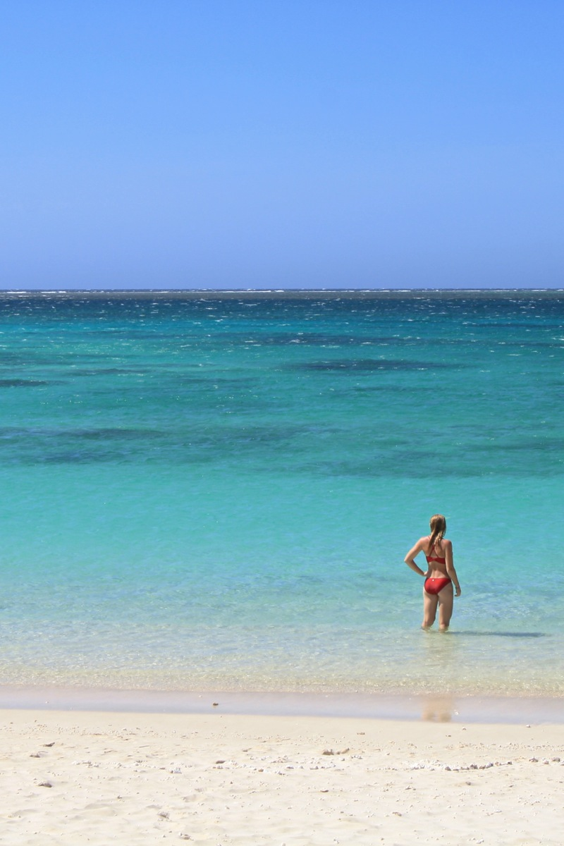 Beautiful coral waters of the Ningaloo Reef