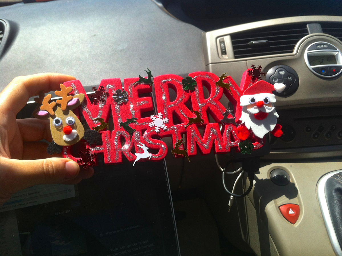 Christmas crafts on the road